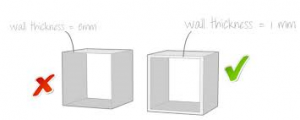 wall thickness for 3d printing