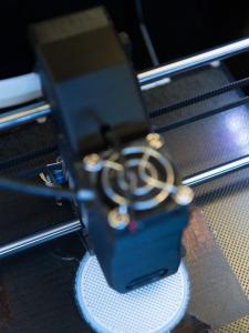 3D Printer Printing a Prototype Part